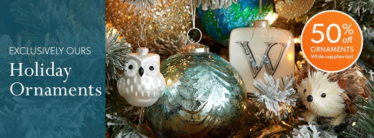Holiday Ornaments: Buy 4 or more and save 30%